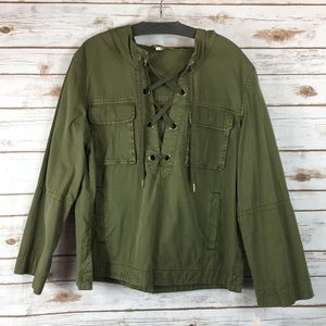 FREE PEOPLE Army Style Pullover Jacket (M) NEW